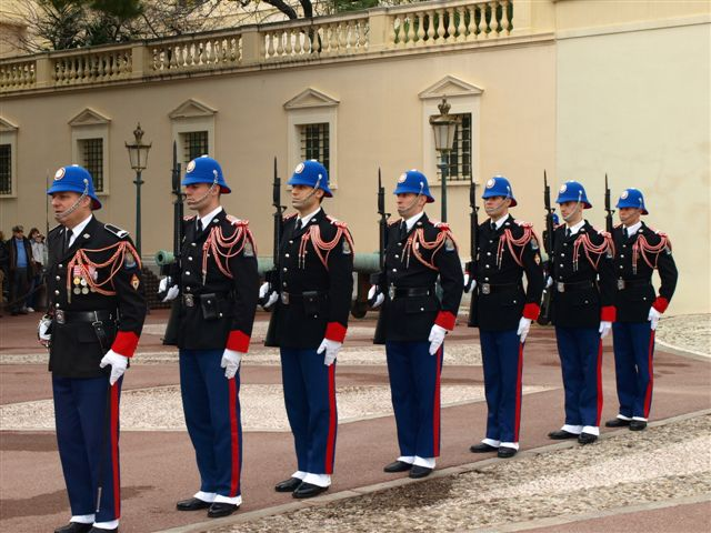 Changing of the guard - the principality of monaco - monaco france